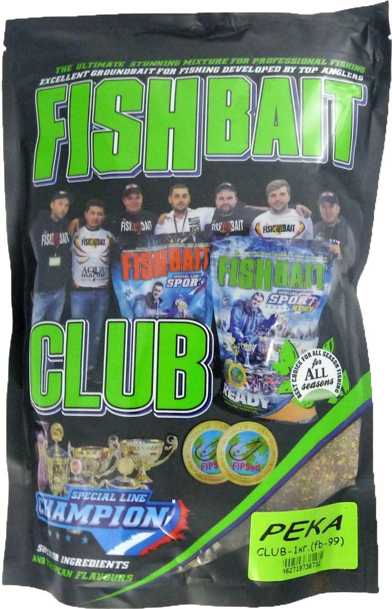 Прикормка для рыб FishBait Club Река, летняя, 1 кг