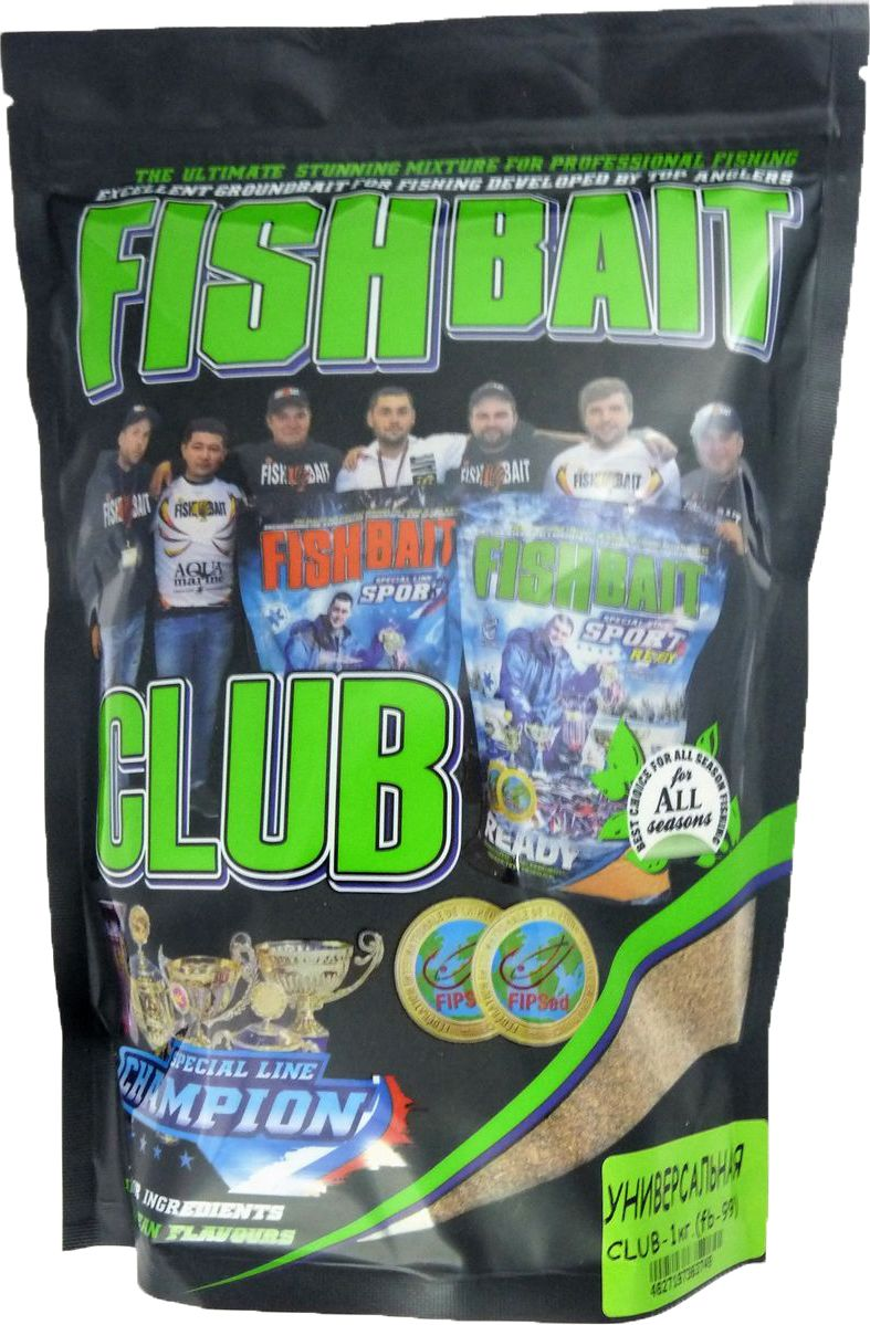 Прикормка для рыб FishBait Club Универсальная, летняя, 1 кг