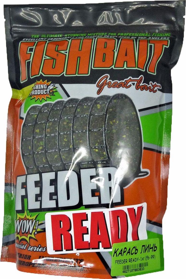 Прикормка для рыб FishBait Feeder Ready Карась-Линь, летняя, 1 кг цена
