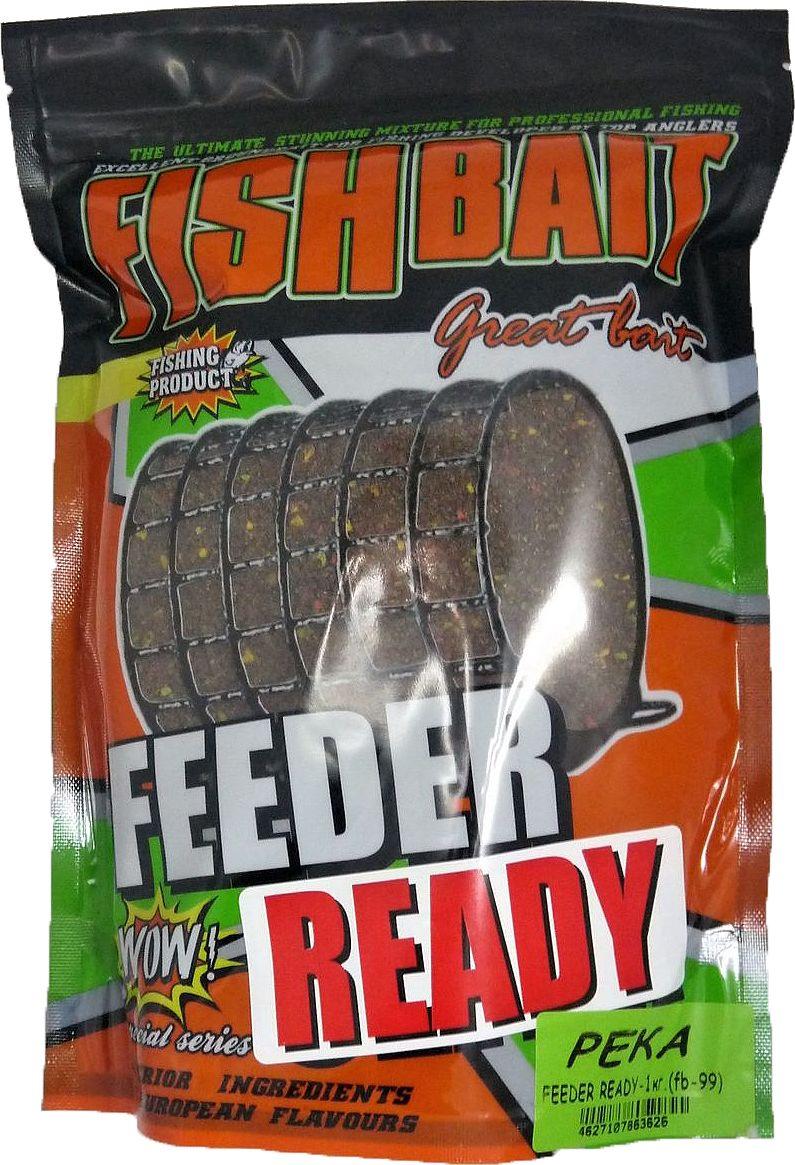 Прикормка для рыб FishBait Feeder Ready Река, летняя, 1 кг