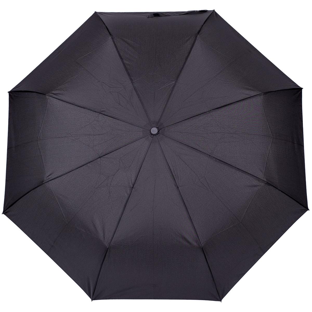 Зонт Stilla, механический, 3 сложения, цвет: черный. 795/black