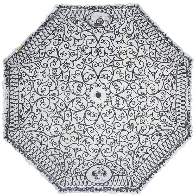 Зонт женский Emme, автомат, 3 сложения, цвет: белый, черный. Е/421C-ОС/White