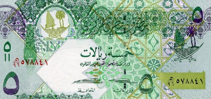 Банкнота номиналом 5 риалов. Катар. 2008 год1017qat292Серия и номер банкноты могут отличаться от изображения.