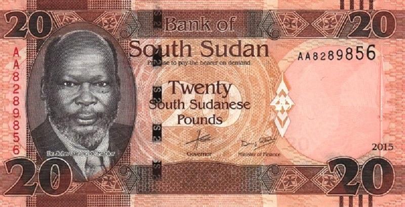 Банкнота номиналом 20 фунтов. Южный Судан. 2015 год банкнота номиналом 500 сирийских фунтов сирия 2013 год