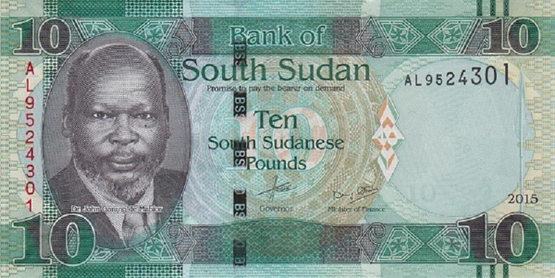 Банкнота номиналом 10 фунтов. Южный Судан. 2015 год1017ssud715Серия и номер банкноты могут отличаться от изображения.