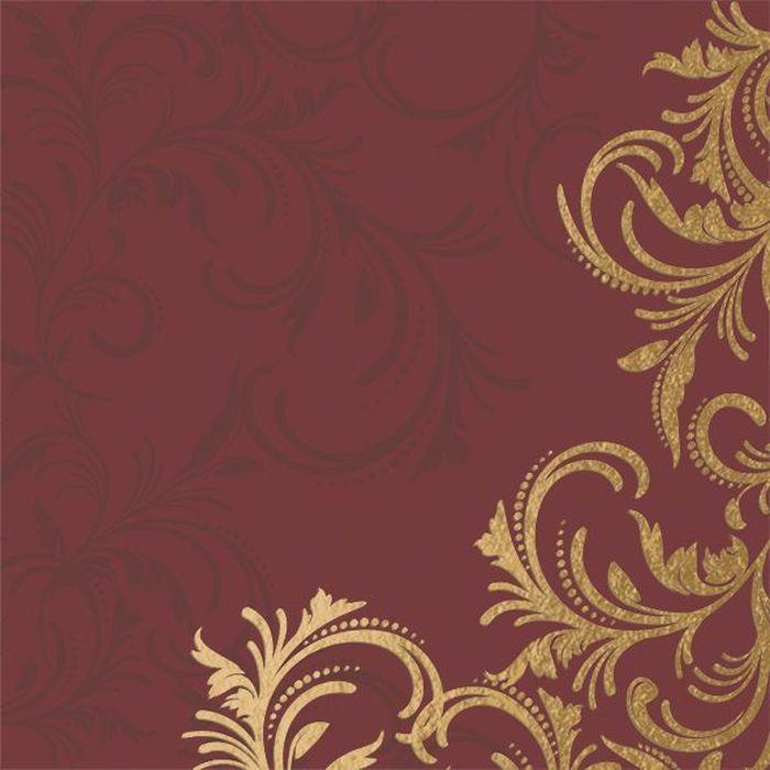 """Салфетки бумажные Duni """"DL Soft"""", 3-слойные, цвет: бордовый, золотой, 40 х 40 см, 12 шт"""