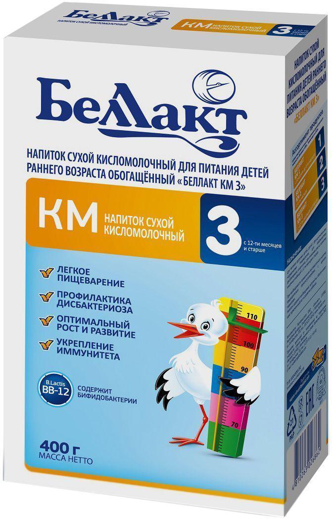 Беллакт КМ 3 смесь молочная сухая с 12 месяцев, 400 г беллакт плюс смесь молочная сухая с 12 месяцев 400 г