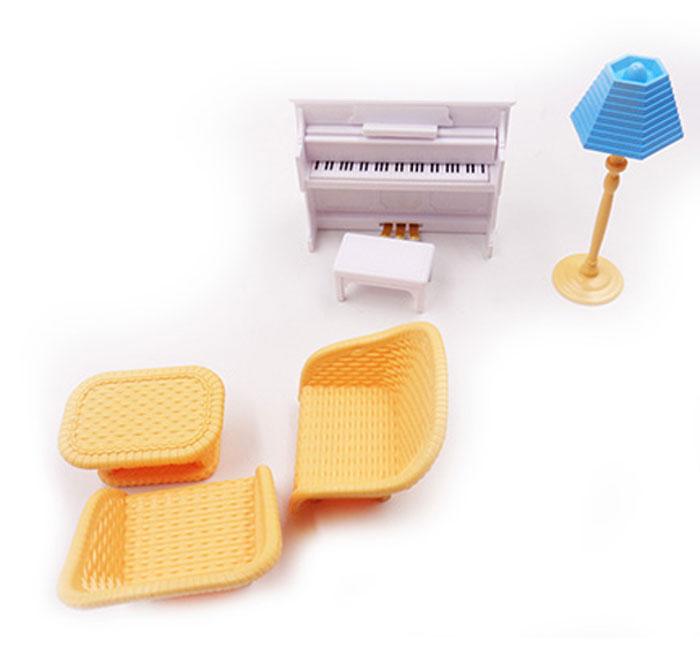 Abtoys Мебель для кукол Счастливые друзья Для гостиной 6 предметов банкетка для пианино ultimate js lb100