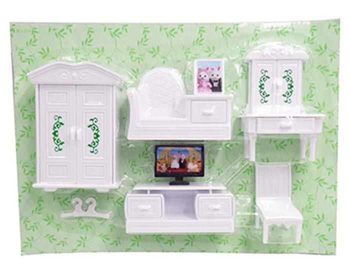 Abtoys Мебель для кукол Счастливые друзья Для гостиной 8 предметов гардеробный шкаф guangzhou yufeng furniture elm series 9803