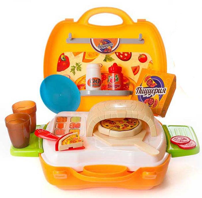 ABtoys Игровой набор Чудо-чемоданчик Пиццерия 22 предмета
