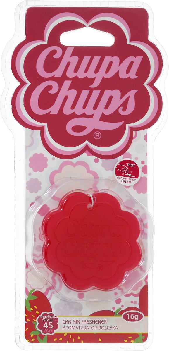 Ароматизатор воздуха Chupa Chups Клубника со сливками, подвесной, гелевый, 18 г ароматизатор гелевый
