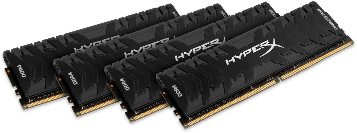 Комплект модулей оперативной памяти Kingston Predator DDR4 DIMM 32GB (4х8GB) 3200МГц (HX432C16PB3K4/32) dimm 32gb 4х8gb ddr4 pc25600 3200mhz kingston xmp hyperx predator series hx432c16pb3k4 32