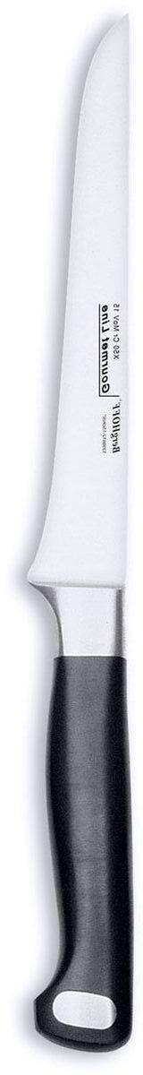 Нож для выемки костей BergHOFF Gourmet, цвет: металлик-черный, длина лезвия 15 см нож для сыра berghoff straight с отверстиями длина 27 см
