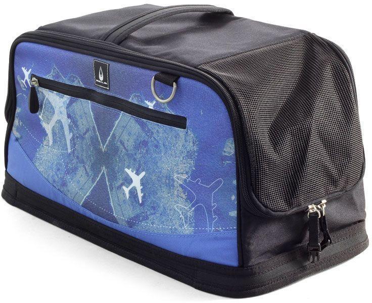 Сумка-переноска для животных Triol Santorini Plane, TB46, черный, синий, 50 x 23 x 22 см