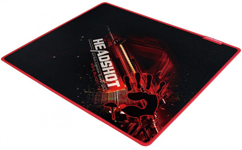 Игровой коврик для мыши A4Tech Bloody B-071, Black Red