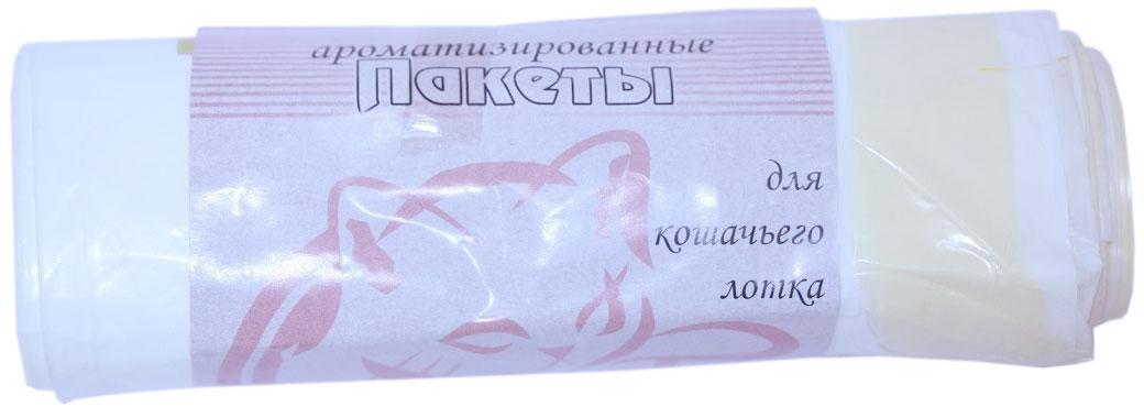 Пакеты для кошачьего лотка Экстра Пластик Ваниль, ароматизированные, 8 шт пакеты для путешествий traveler