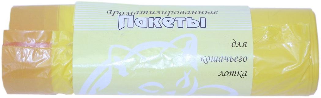 Пакеты для кошачьего лотка Экстра Пластик Лимон, ароматизированные, 8 шт пакеты для путешествий traveler