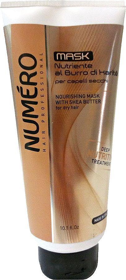 Brelil Numero Shea Butter Маска с маслом карите для сухих волос 300 мл