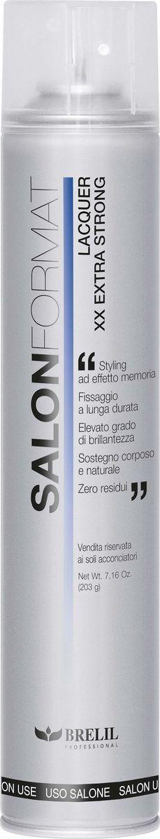 все цены на Brelil Salon Format Fixing Spray Extra Strong Лак экстра сильной фиксации 500 мл онлайн