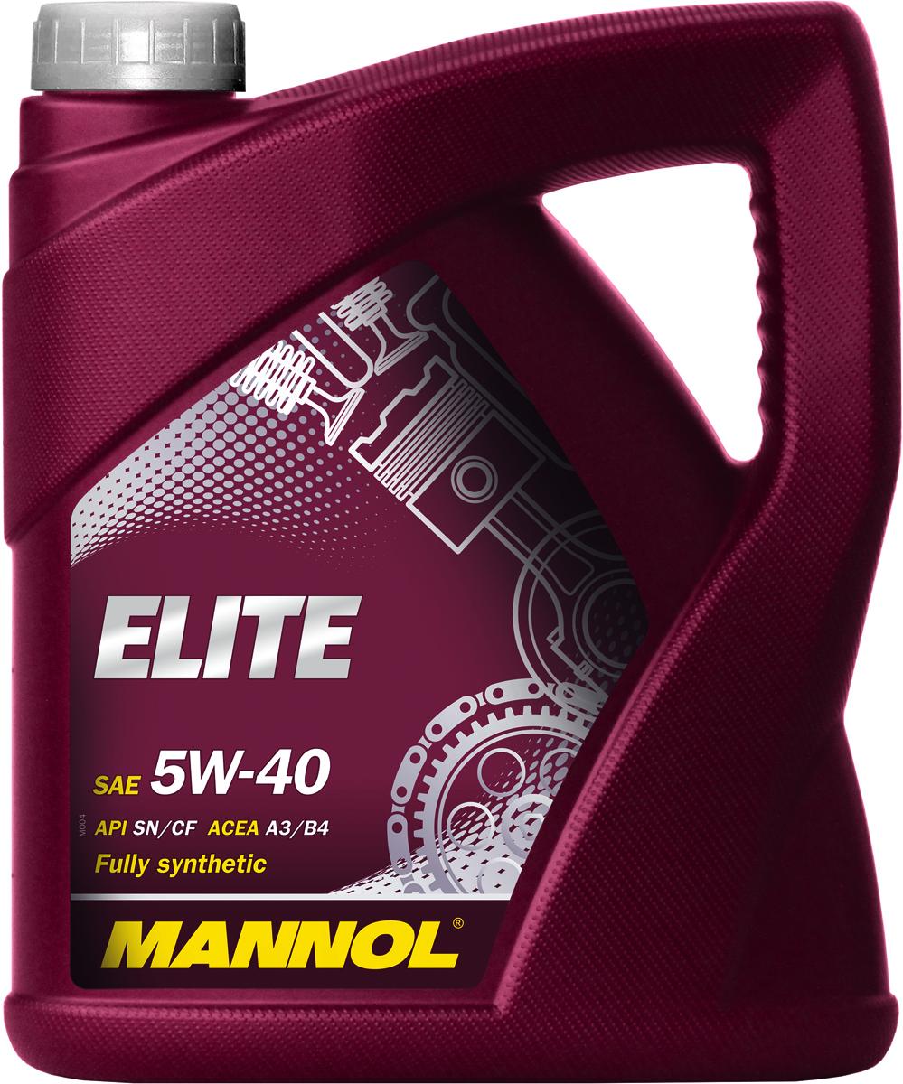 """Масло моторное MANNOL """"Elite"""", 5W-40, синтетическое, 4 л"""