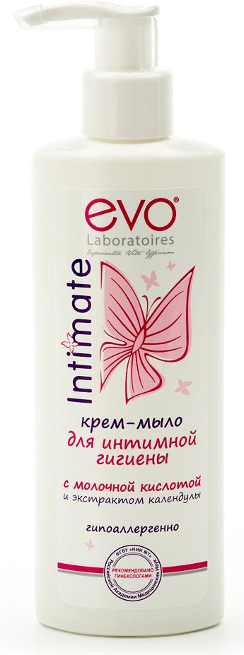Evo Крем-мыло для интимной гигиены с молочной кислотой и экстрактом календулы, 200 мл evo жидкое мыло для интимной гигиены для чувствительной кожи 200 мл