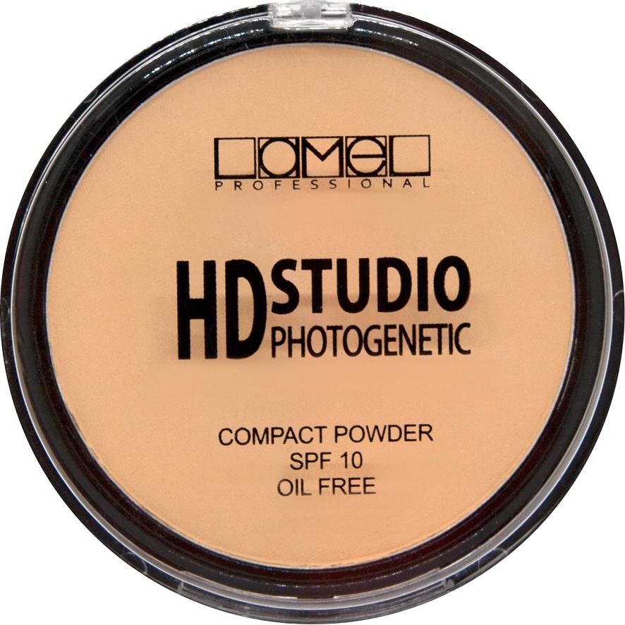 Lamel Professional Пудра компактная для лица HD Powder 301, 12 г lamel lamel professional корректор стик для лица perfect 01 светло бежевый