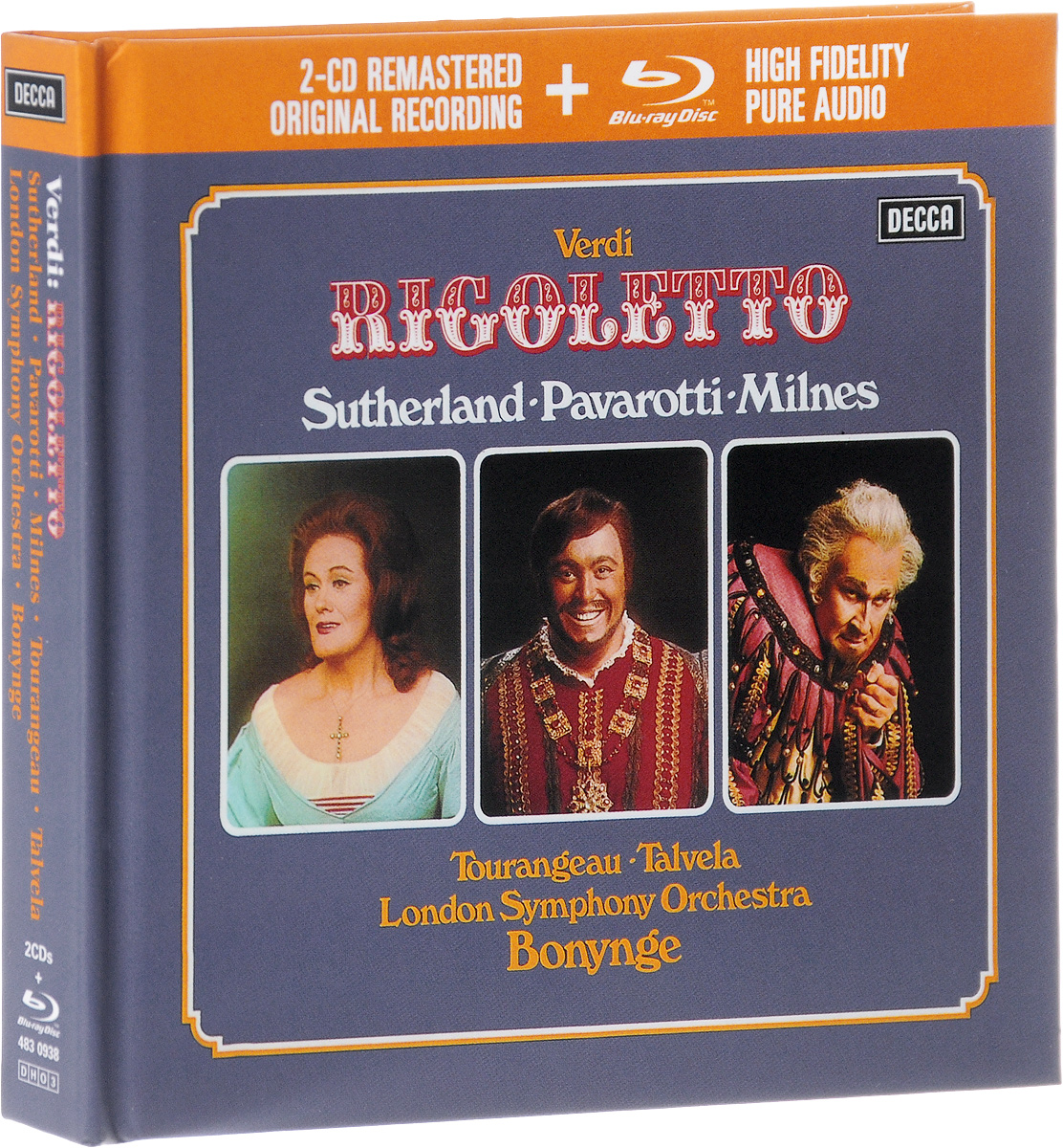 Ричард Бонинг,The Ambrosian Opera Chorus,Джон Маккарти,The London Symphony Orchestra Richard Bonynge. Verdi. Rigoletto (2 CD + Blu-ray) verdi il trovatore blu ray