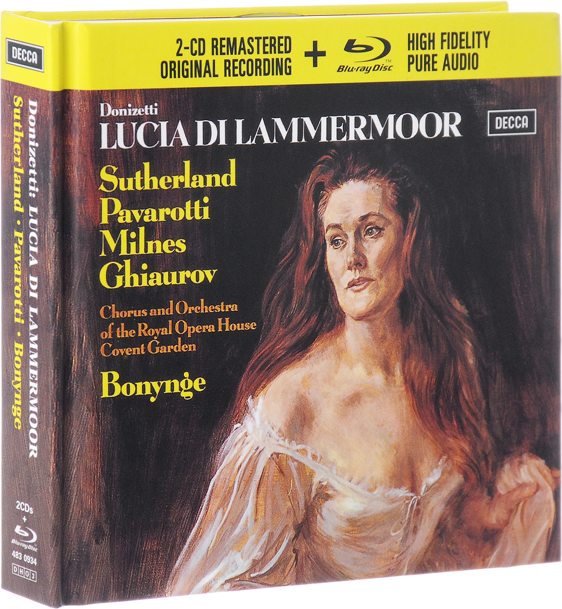 Ричард Бонинг,Chorus Of The Royal Opera House, Covent Garden,Orchestra Of The Royal Opera House Covent Garden,Дуглас Робинсон Richard Bonynge. Donizetti. Lucia Di Lammermoor (2 CD + Blu-ray) джоан сазерленд лучано паваротти maria casula english chamber orchestra ричард бонинг donizetti l elisir d amore sutherland pavarotti eco bonynge 2 cd blu ray audio