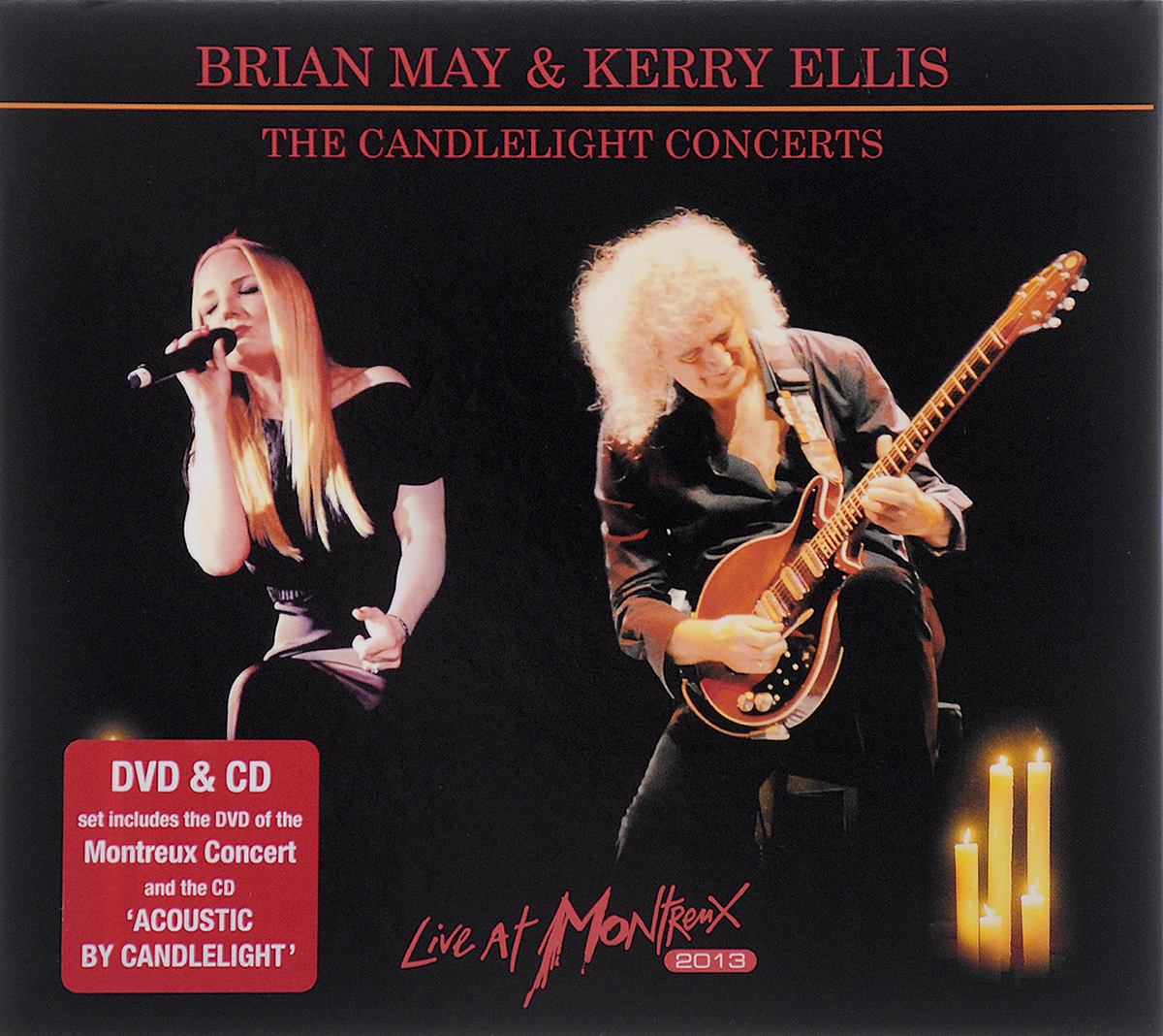 Брайан Мэй,Керри Эллис Brian May, Kerry Ellis. The Candlelight Concerts. Live At Montreux 2013 (CD + DVD) моуз эллисон mose allison transfiguration of hiram brown creek bank i love the life i live v 8 ford blues young man mose 2 cd