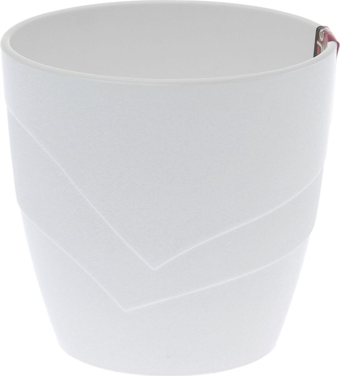 Кашпо JetPlast Грация, цвет: белый, 1,2 л кашпо jetplast альфа с креплением цвет кремовый 1 л