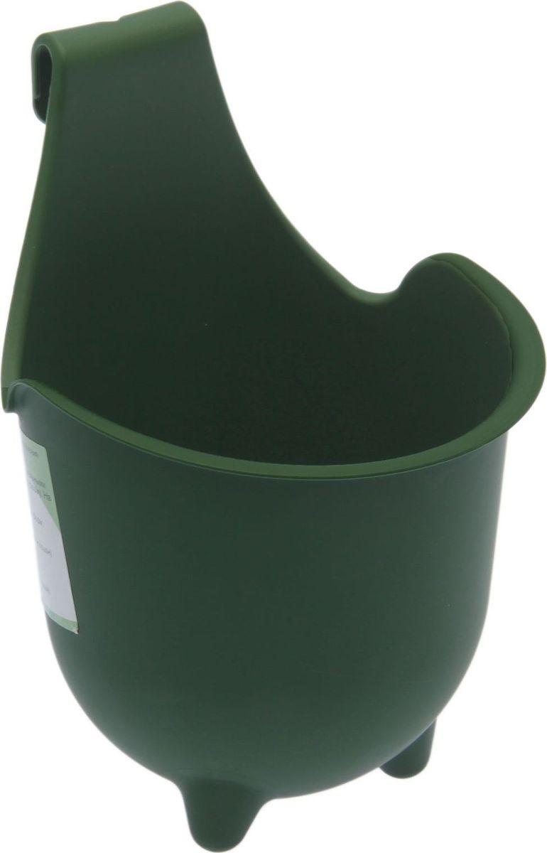 Горшок для цветов JetPlast Альфа, цвет: зеленый, 1 л кашпо jetplast альфа с креплением цвет кремовый 1 л