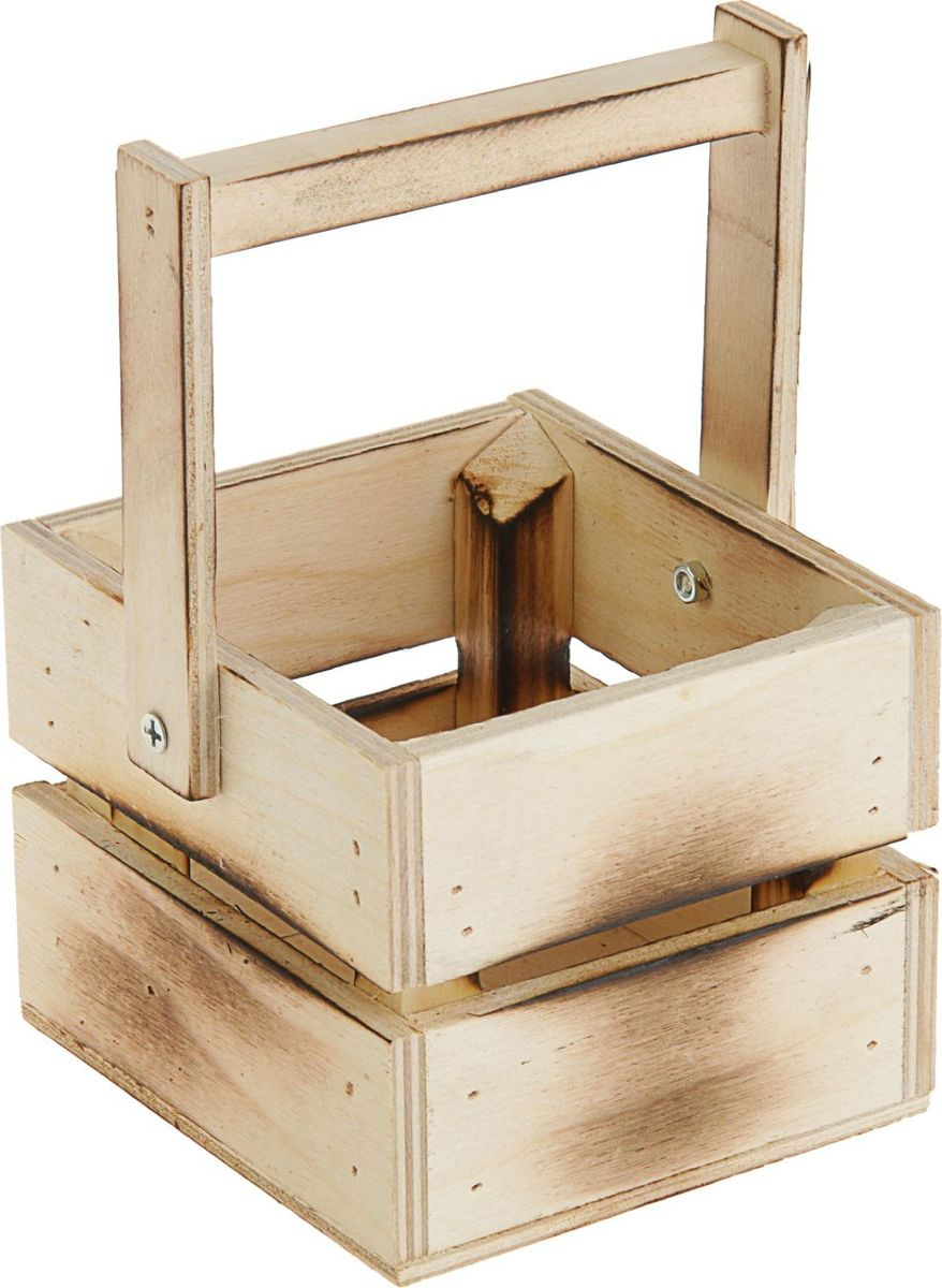 Кашпо ТД ДМ Ящик, со складной ручкой, обоженное, 11 х 12 х 9 см кашпо дубравия ящик большой фуксия