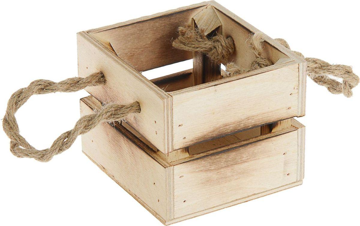 Кашпо ТД ДМ Ящик, 11 х 12 х 9 см кашпо тд дм ящик любовь флористическое 20 х 16 х 9 5 см