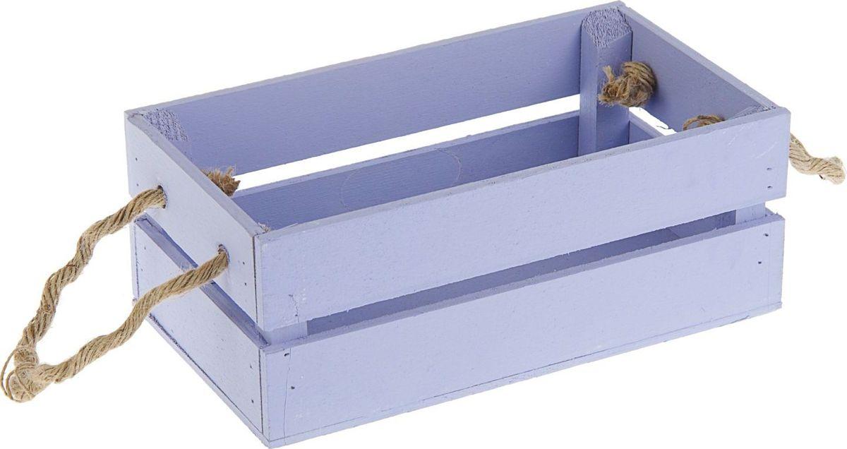 "Кашпо ТД ДМ ""Ящик"", цвет: фиолетовый, 24,5 х 13,5 х 9 см"