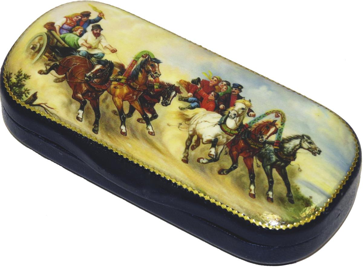 Кремлина Веселые катания конфеты вишня в шоколадной глазури в футляре для очков, 40 г кремлина зимние катания конфеты вишня в шоколадной глазури в футляре для очков 40 г