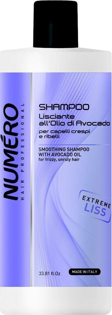 Brelil Numero Liss Шампунь разглаживающий с маслом авокадо для пушистых и непослушных волос 1000 мл rich интенсивная сыворотка масло для шелковистости и блеска волос без смывания 60 мл