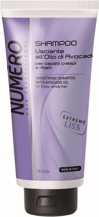 Brelil Numero Liss Шампунь разглаживающий с маслом авокадо для пушистых и непослушных волос 300 мл