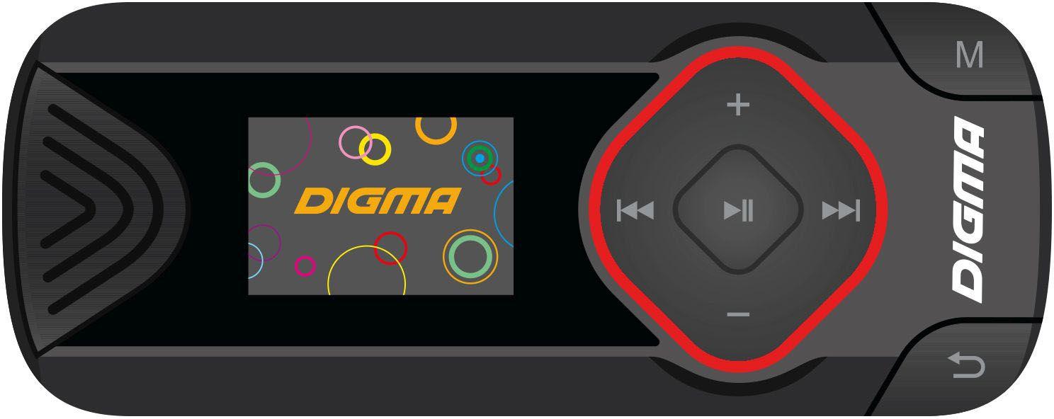 MP3 плеер Digma R3 8Gb, Black mp3 плеер digma r3 8gb black