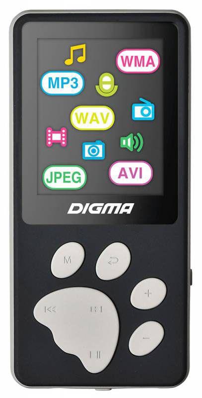 MP3 плеер Digma S3 4Gb, Black Gray