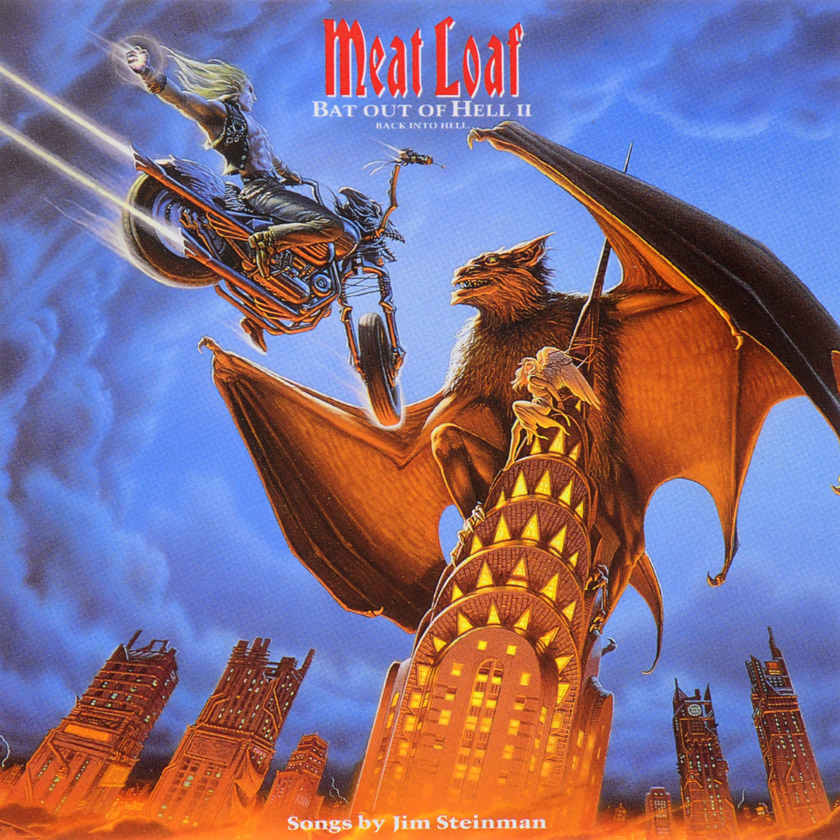 Мит Лоуф Meat Loaf. Bat Out Of Hell II. Back Into Hell u convex pouch back hollow out design string t back