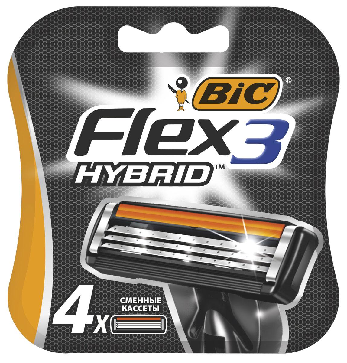 Bic Flex 3 HybridСменные кассеты для бритья 4 шт