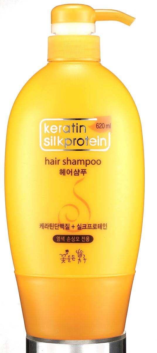 Flor de Man Увлажняющий шампунь для волос с протеинами шелка