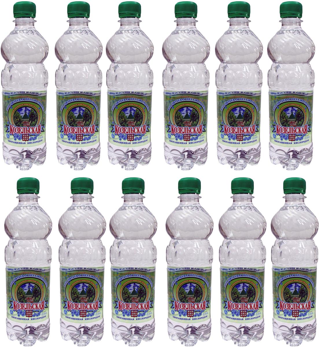 Козельская вода питьевая обогащенная кислородом, 12 шт по 0,5 л