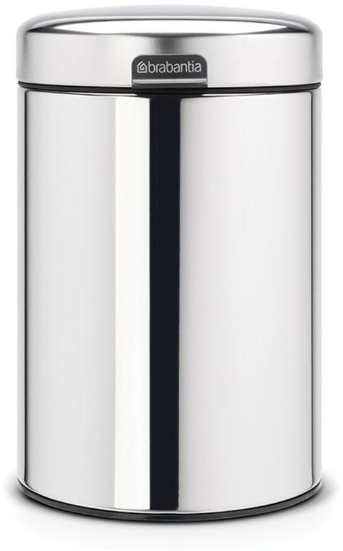 Бак мусорный Brabantia NewIcon, настенный, цвет: стальной полированный, 3 л. 115547 бак мусорный brabantia с педалью цвет серый металлик 12 л 214660