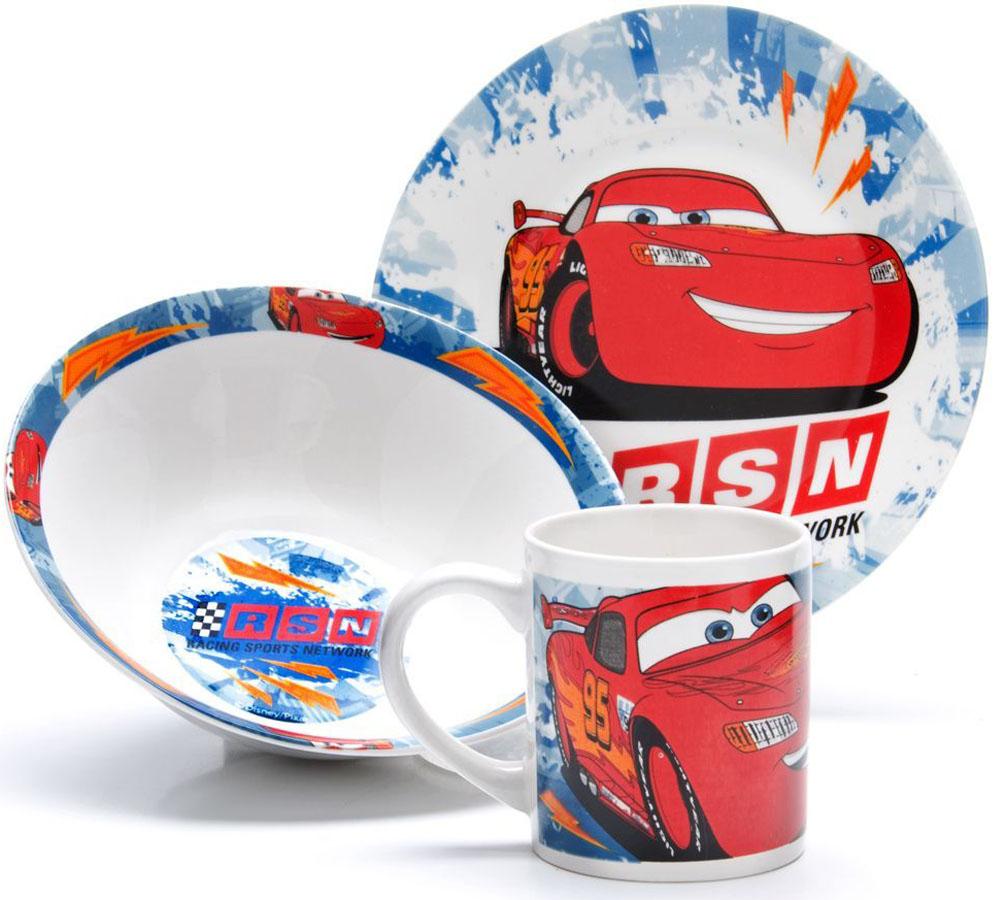 Набор для завтрака Disney Тачки, цвет: в ассортименте, 3 предмета. 26997