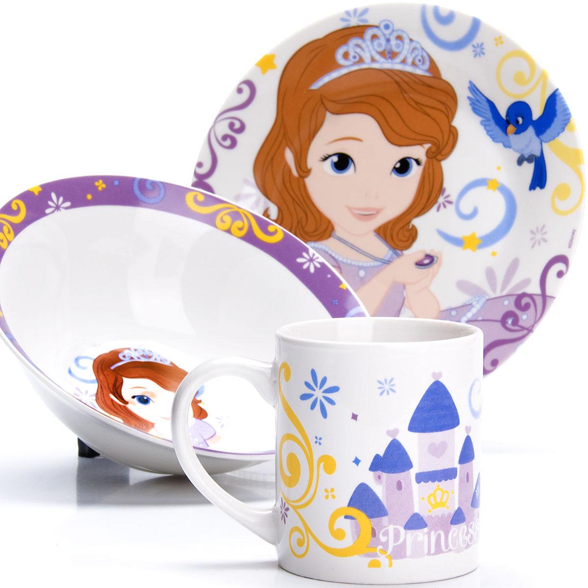 Набор для завтрака Disney София, 3 предмета. 27002 набор посуды принцесса софия bildo