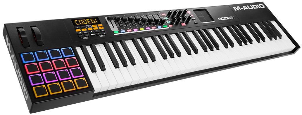 M-Audio Code 61, Black MIDI-клавиатура midi контроллер novation launchpad mk2 компактный для ableton live 64 квадратных пэдов цвет черный