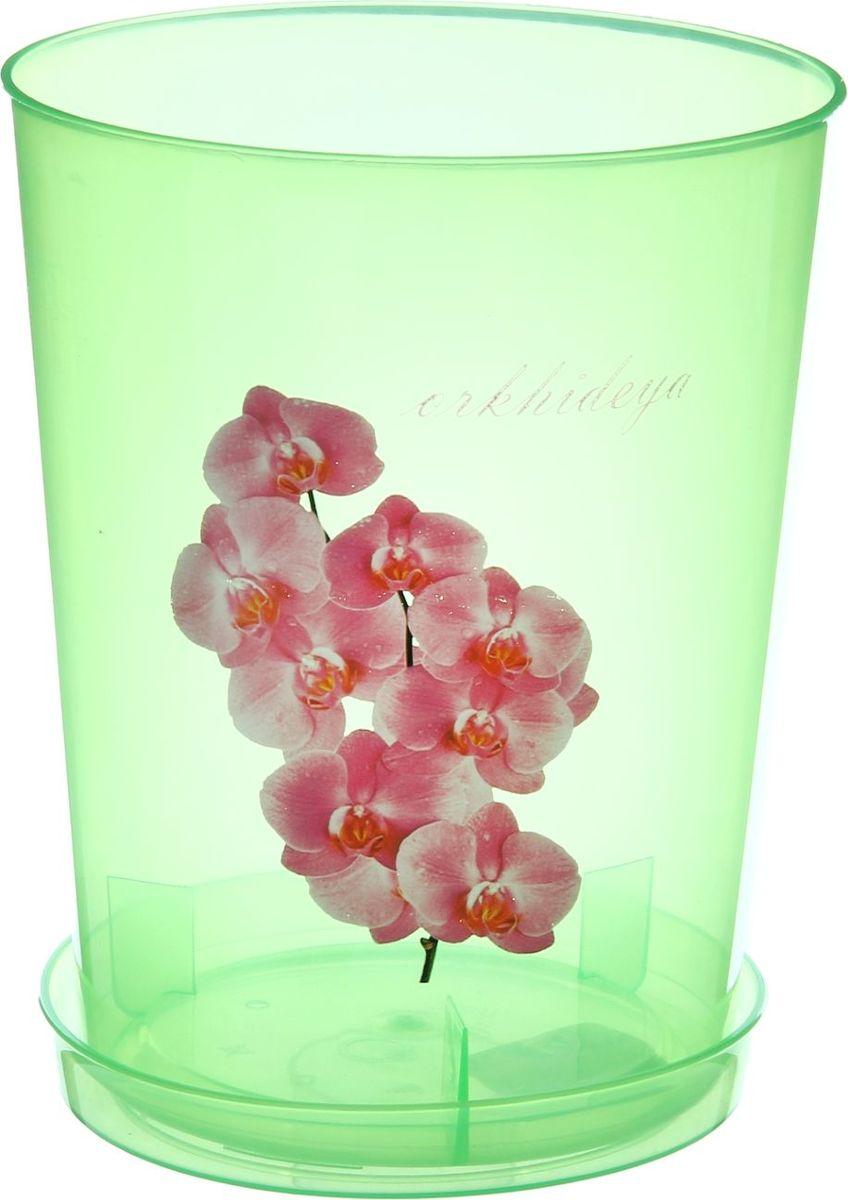 Горшок Альтернатива, для орхидеи, с поддоном, в ассортименте, 3,5 л горшок для орхидей альтернатива цвет белый желтый 3 5 л