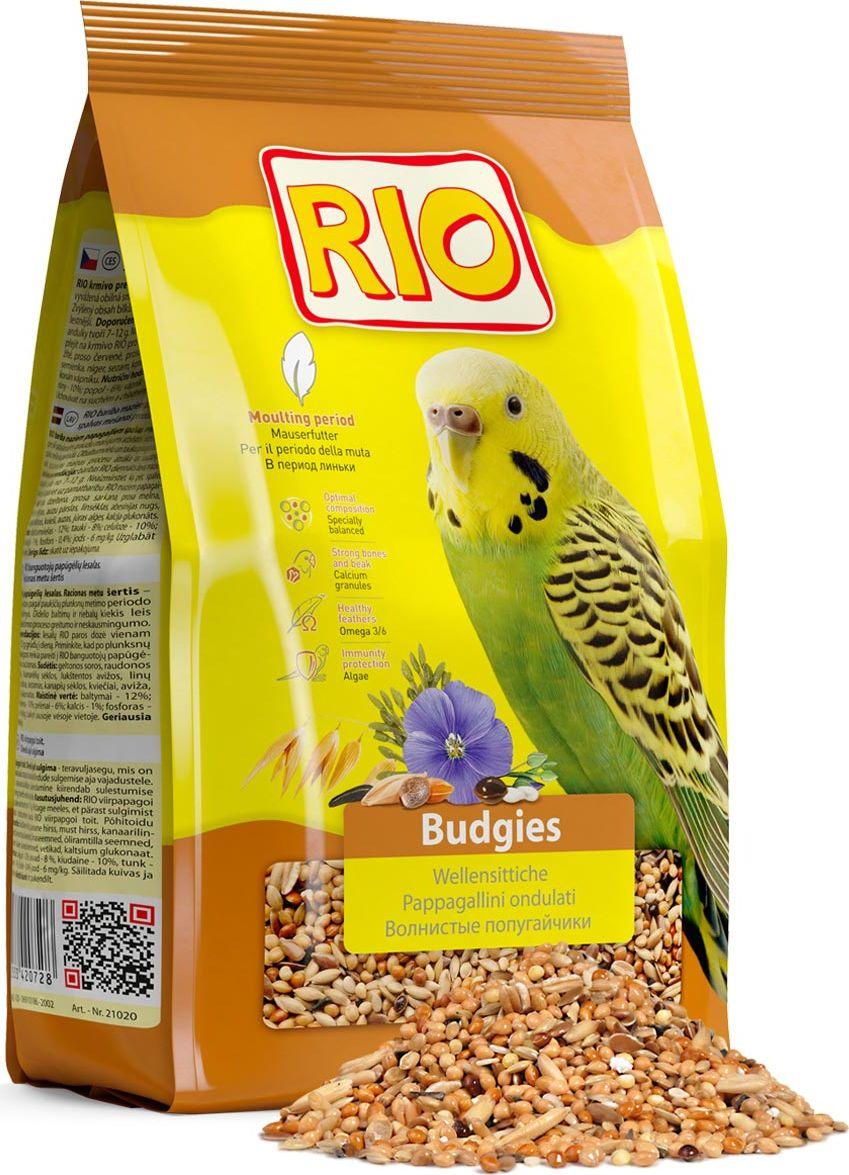 Корм для волнистых попугайчиков Rio, в период линьки, 500 г