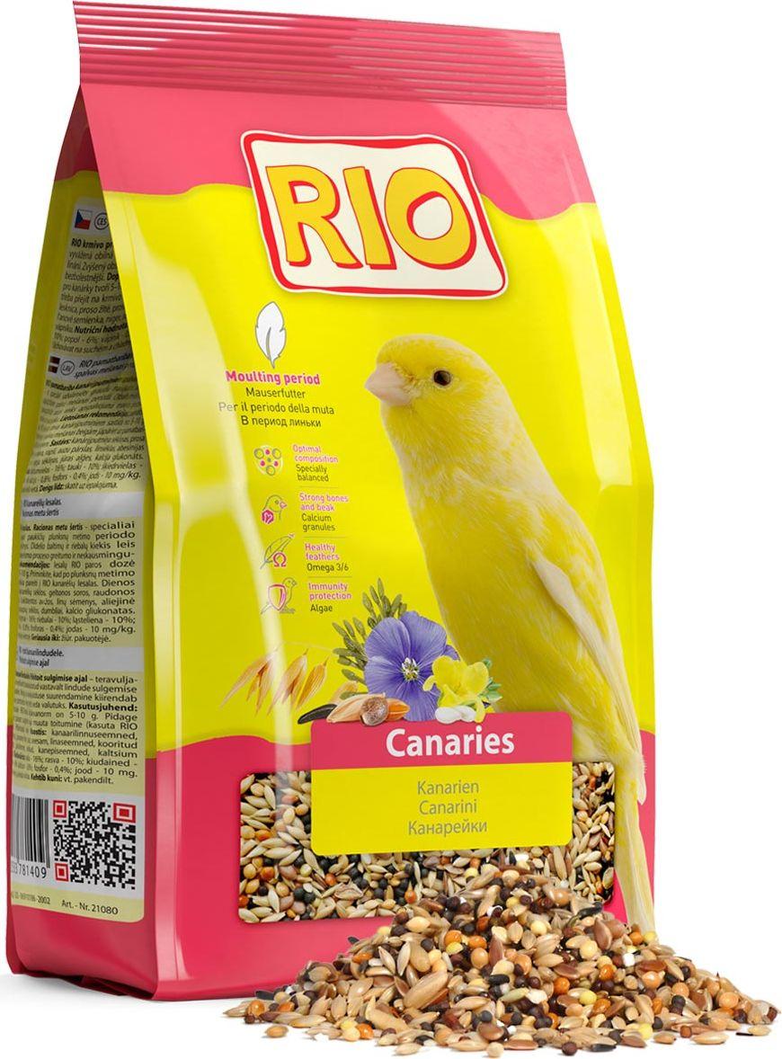 Корм для канареек Rio, в период линьки, 500 г корм padovan ovomix gold rosso для птенцов в период линьки и выкармливания 300г